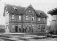 Bahnhof 1900